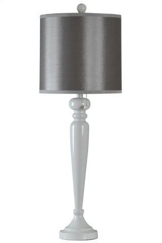 Steel Lamp Base in Halifax Finish Gray Drum Shade
