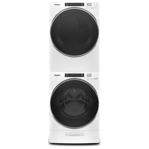 Whirlpool® 5.0 cu.ft. Front Load Washer with Load & Go™ XL Dispenser, 40 Loads - White