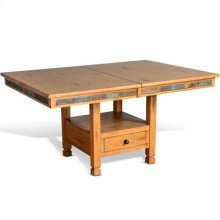 Sedona Dual Height Butterfly Leaf Dining Table w/ Slate