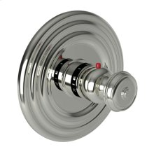 Polished Nickel - Natural Round Thermostatic Trim Plate with Handle