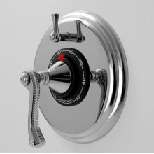 """1/2"""" Thermostatic Shower Set with Charlotte Elite Handle and One Volume Control (available as trim only)"""