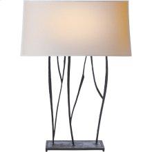 Visual Comfort S3051BR-NP Ian K. Fowler Aspen 23 inch 60 watt Hand Painted Blackened Rust Decorative Table Lamp Portable Light