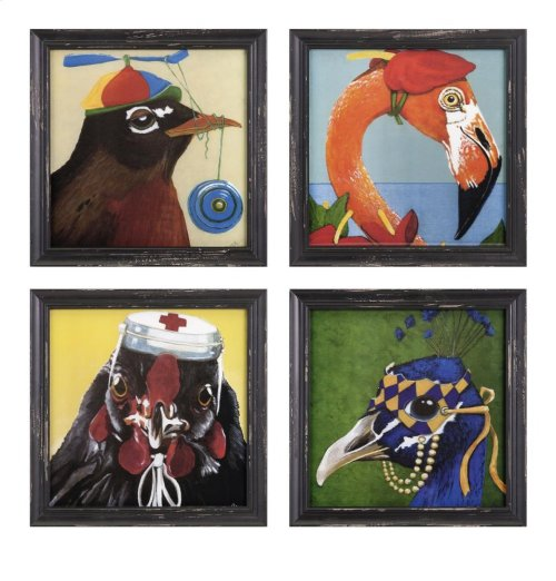 Bird Party Wall Decor - Ast 4