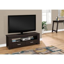 """TV STAND - 48""""L / CAPPUCCINO WITH 2 STORAGE DRAWERS"""