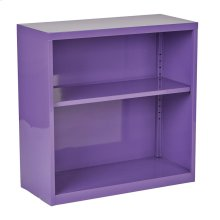 Metal Bookcase In Purple Finish, Ships Fully Assembled.
