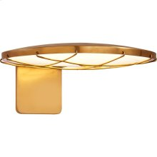 Visual Comfort PB2003NB Peter Bristol Dot LED 6 inch Natural Brass Outdoor Wall Light