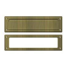 """Mail Slot 13 1/8"""" with Interior Frame - Antique Brass"""