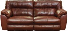 CATNAPPER 64341 Milan Top Grain Leather Touch Power Lay-Flat Reclining Sofa