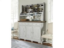 Credenza with Wine-On-The-Wall Rack - Blossom