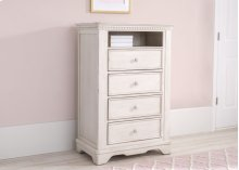 Tivoli 4 Drawer Chest with Cubby - Antique White (122)