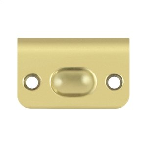 Strike Plate for Ball Catch and Roller Catch - Polished Brass