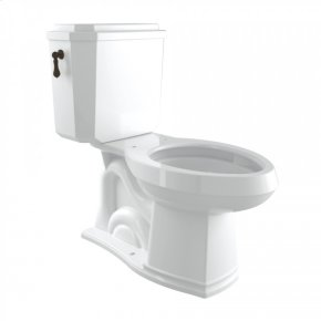 Tuscan Brass Perrin & Rowe Deco Elongated Close Coupled 1.28 GPF High Efficiency Water Closet/Toilet
