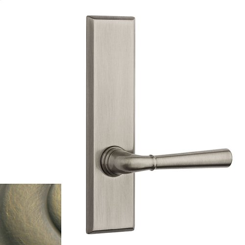 Satin Brass and Black Traditional L027 Lever Screen Door