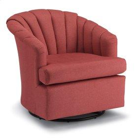 ELAINE Swivel Barrel Chair