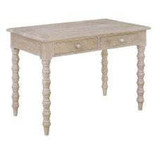 Bengal Manor Light Mango Wood 4 Turned Leg 2 Drawer Console Table