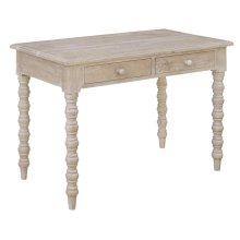 Bengal Manor Light Mango Wood 4 Turned Leg 2 Drawer Console Table