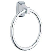 Contemporary chrome towel ring