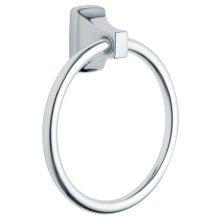 Contemporary chrome towel ring