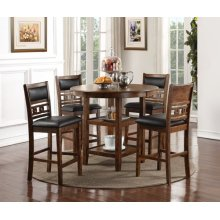 Pub Round Table and 4 Stools