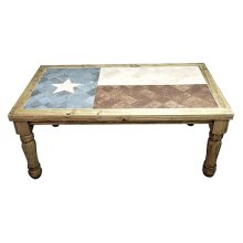 6 Ft Texas Flag Marble Table