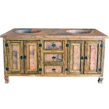 "30"" Copper Vanity W/Drawers"