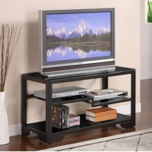 "38"" Black Rectangular TV Stand"