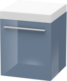 Mobile Storage Unit, Stone Blue High Gloss Lacquer