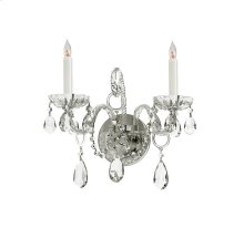 Traditional Crystal2 Light Clear Crystal Chrome Sconce II