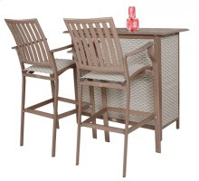 Island Breeze 3 PC Slatted Bar Set