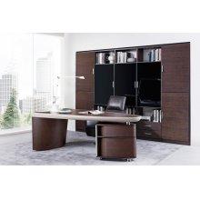 Modrest Nolan Modern Brown Oak & Grey Desk
