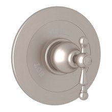 Satin Nickel Arcana Integrated Volume Control Pressure Balance Trim Without Diverter with Arcana Series Only Ornate Metal Lever