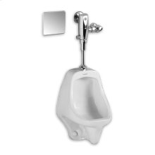 Allbrook Urinal 0.5 gpf Siphon Jet - Top Spud with Selectronic Exposed AC Flush Valve System - White