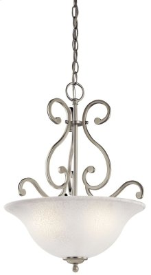 Camerena 3 Light Inverted Pendant Brushed Nickel