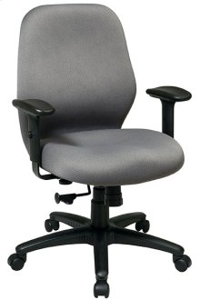 2-to-1 Synchro Tilt Managers Chair with Adjustable PU Padded Arms