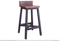 "30"" Stool - with wooden seat & base- Black finish Product Image"