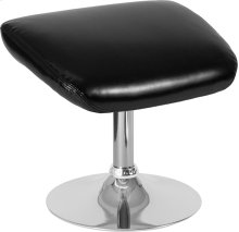Egg Series Black Leather Ottoman