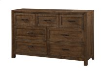 7 Drawer Dresser-burnished Pine Finish