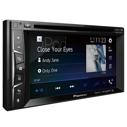 """Multimedia DVD Receiver with 6.2"""" WVGA Display, Built-in Bluetooth®, HD Radio """" Tuner, SiriusXM-Ready """" and AppRadio Mode +, Remote Control Included and two camera inputs"""