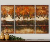 Trilakes Hand Painted Canvases, S/3
