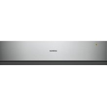 "200 series 200 series convection warming drawer Glass front in Gaggenau Metallic Width 24"" (60 cm), Height 5 1/2"" (14 cm)"