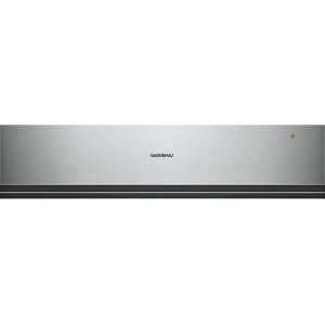 "Gaggenau200 series 200 series convection warming drawer Glass front in Gaggenau Metallic Width 24"" (60 cm), Height 5 1/2"" (14 cm)"