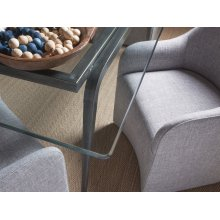 St. Laurent Mitchum Rectangular Dining Table With Glass Top