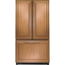 "Cabinet Depth French Door Refrigerator with Internal Dispenser, 69""(h), Custom Overlay"