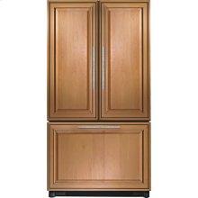 "Cabinet Depth French Door Refrigerator with Internal Dispenser, 69""(h), Custom Overlay"