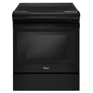 4.8 cu. ft. Guided Electric Front Control Range With The Easy-Wipe Ceramic Glass Cooktop - BLACK