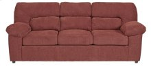 Sofa - Red Chenille Finish