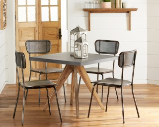 Array Dining Table with Method Mesh Back Chairs