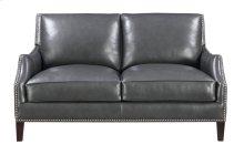 Emerald Home Luigi Loveseat-charcoal Leather U1211-01-03