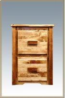 Homestead 2 Drawer File Cabinet - Stained and Lacquered Product Image