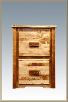 Homestead 2 Drawer File Cabinet - Stained and Lacquered
